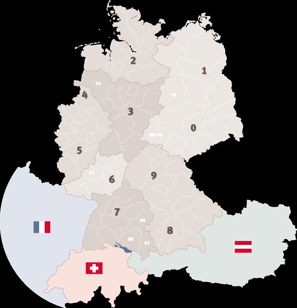 Karte Aussendienst